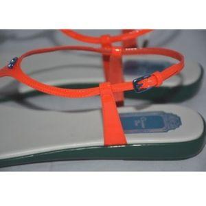 f270904c514 Dior Shoes - DIOR lagoon orange patent leather thong sandals 39